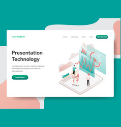 landing page template presentation technology vector image