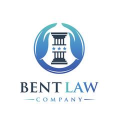 legal logo design vector image