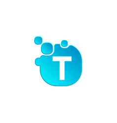 Letter t bubble logo template or icon vector