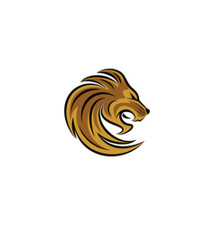 Lion head icon logo vector