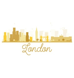 London City skyline golden silhouette vector image