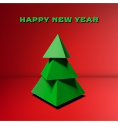 Low poly Christmas tree vector