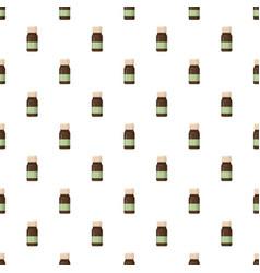 Medicine brown bottle pattern vector