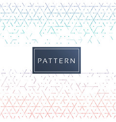 Mini triangle pattern seamless white background ve vector