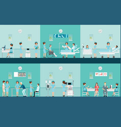nurse health care decorative icons set with vector image