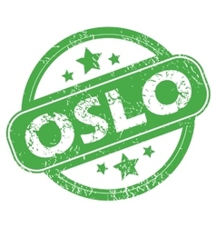 Oslo green stamp vector image
