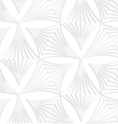 Paper white pointy striped trefoils vector