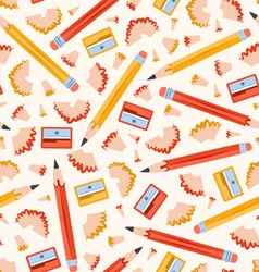 Pencils pattern vector image