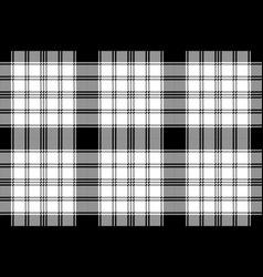 pixel monochrome plaid seamless pattern vector image