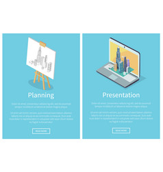 planning and presentation vector image