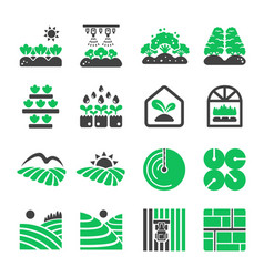 Plantation icon vector