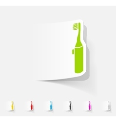 realistic design element electric toothbrush vector image
