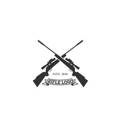 Rifle club logo designs vector