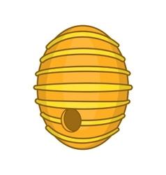 Round beehive icon cartoon style vector