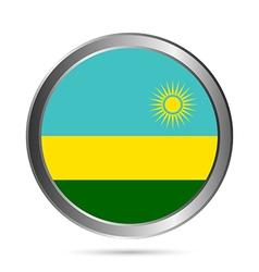 Rwanda flag button vector