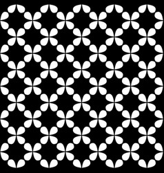 Seamless black and white curved star pattern vector