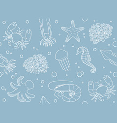 seamless marine background vector image