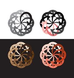 set colorful arrows circle diagram vector image