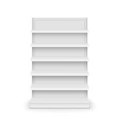 shelf store supermarket mockup stand retail shelf vector image