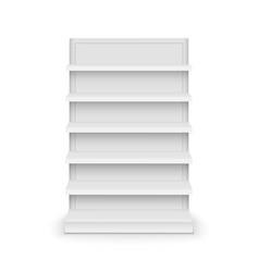 shelf store supermarket mockup stand retail vector image