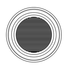 Silhouette heraldic round stamp with circles vector