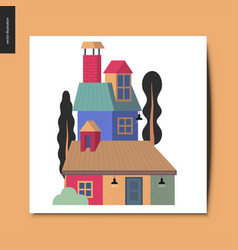 simple things - house vector image
