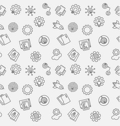 startup minimal seamless pattern vector image