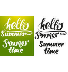 Summer greeting calligraphic text logo symbol vector
