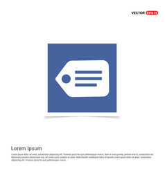 tag icon - blue photo frame vector image