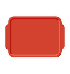 Top view of empty plastic tray vector