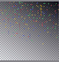 transparent background with many falling colorful vector image