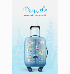 travel design with luggage vector image