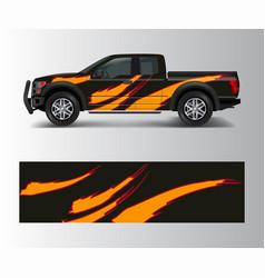 truck and cargo van wrap car decal wrap design vector image