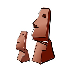Two statues vector