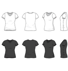 V-neck t-shirt vector image