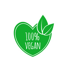 vegan food icon elements for labels logos vector image