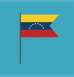 venezuela flag icon in flat design vector image