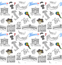 venice italy seamless pattern hand drawn sketch vector image
