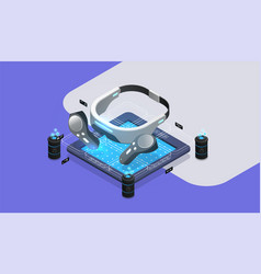 vr virtual reality glasses tools concept vector image