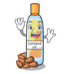 waving lenseed oil in the character shape vector image