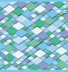 winter square mosaic background blue vector image