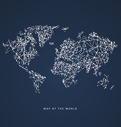 World Map dots formed vector