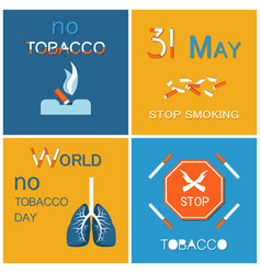 world no tobacco day wntd celebrated on 31 may vector image