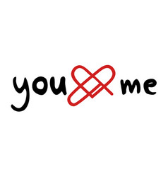 you love me message vector image