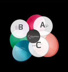 glossy glass circles speech bubble on black vector image