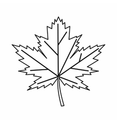 Maple leaf icon outline style vector image vector image