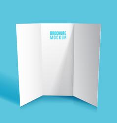 mockup tri-fold brochure design isolated vector image vector image