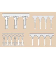 arcades - roman gothic vector image
