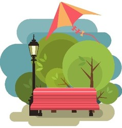 Bench for rest vector image vector image