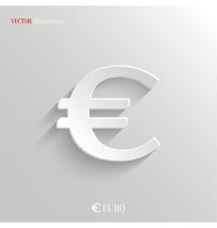 Euro Icon - white app button vector image